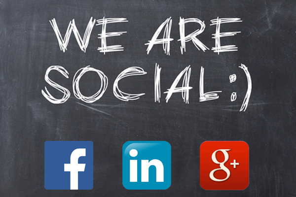 Yes, We're Social…
